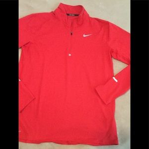 Nike running pullover red size large quarter zip